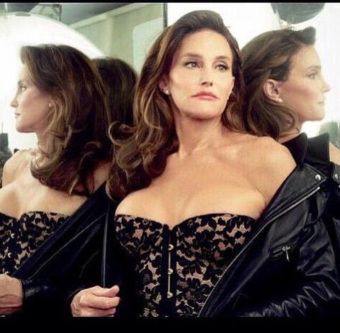 Caitlyn Jenner preparing to vogue immediately after throwing shade on her entire family (credit: Vanity Fair).
